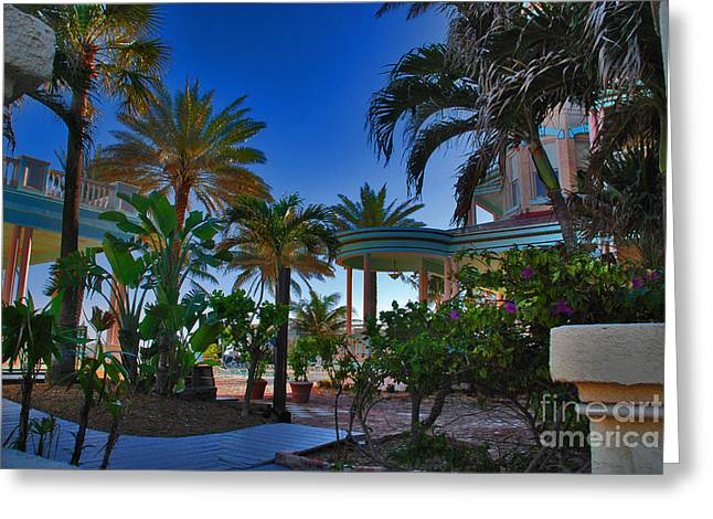Southernmost Lush Garden In Key West Greeting Card by Susanne Van Hulst