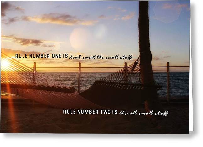 Southernmost Quote Greeting Card by JAMART Photography