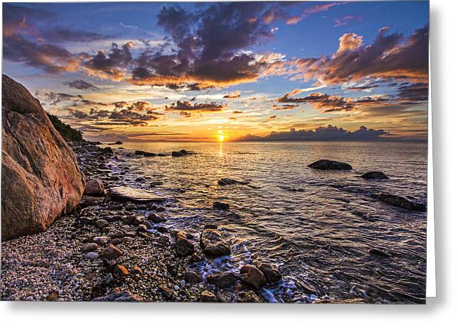 Southold Sunset Greeting Card