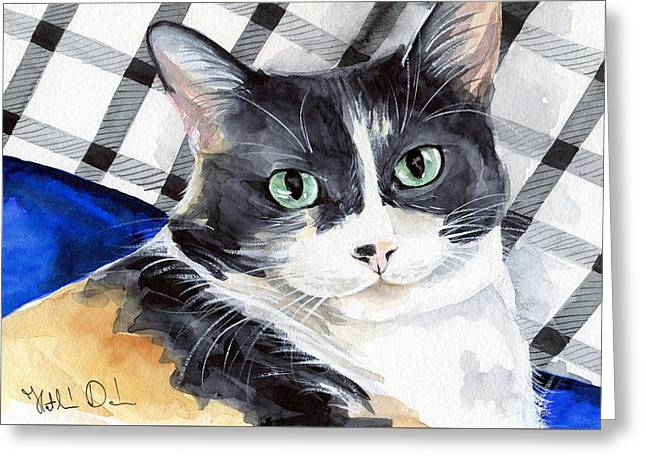 Southpaw - Calico Cat Portrait Greeting Card