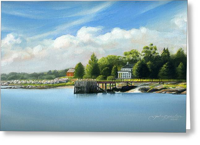Southport Harbor Greeting Card by John Deecken