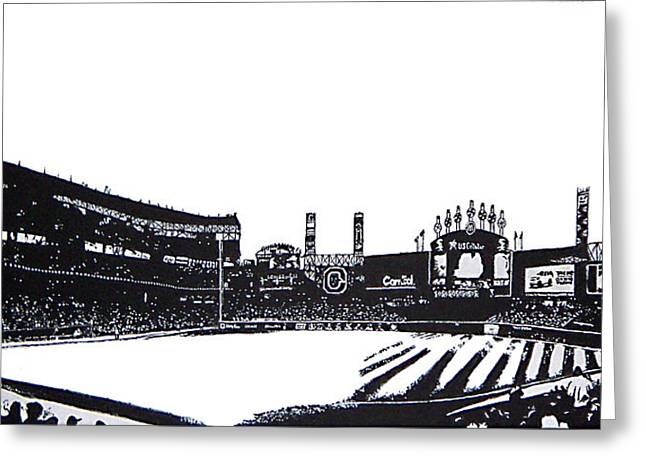Baseball Stadiums Paintings Greeting Cards - Southside Afternoon Greeting Card by Matthew Formeller