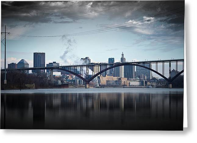 Southside And The High Bridge Greeting Card by Matthew Blum