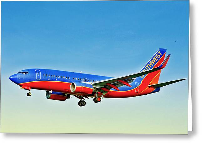 Southwest 737-700 Greeting Card
