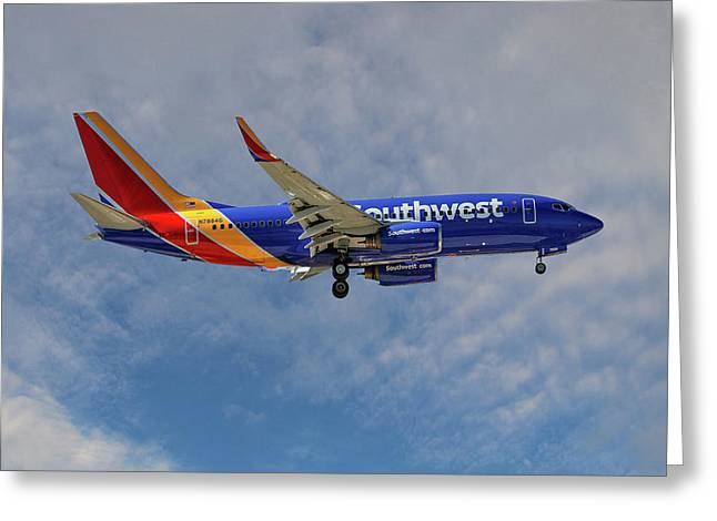 Southwest Airlines Boeing 737-76n Greeting Card