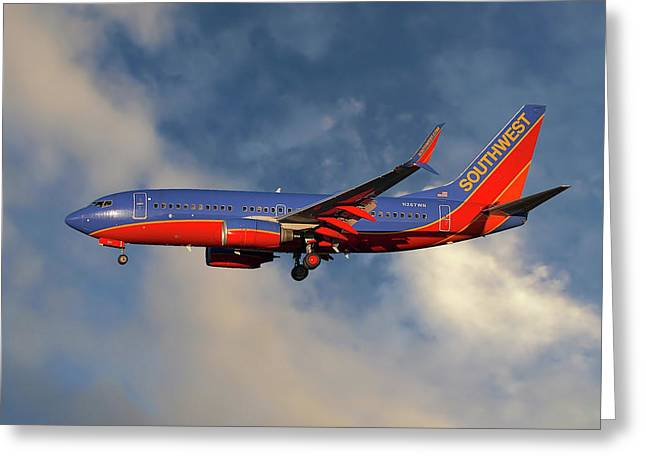 Southwest Airlines Boeing 737-7h4 Greeting Card