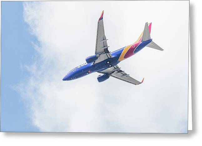 Southwest Airlines With A Heart Greeting Card