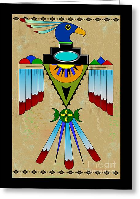 Southwest Bird Symbol Greeting Card by Tim Hightower