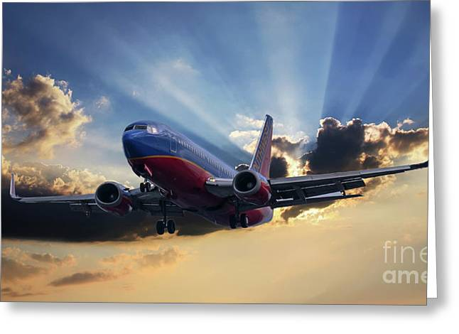 Southwest Dramatic Rays Of Light Greeting Card