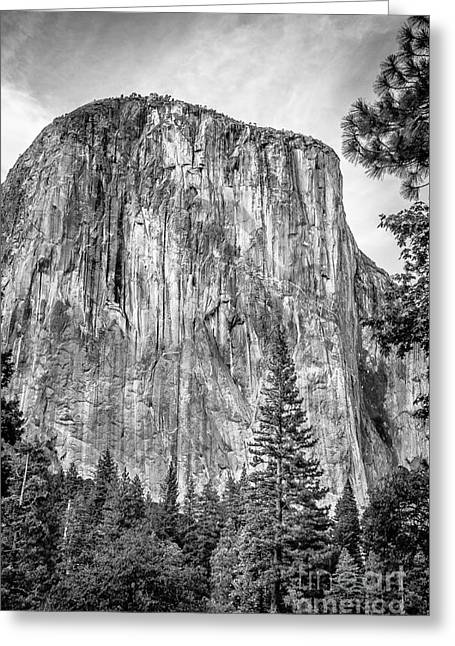 Southwest Face Of El Capitan From Yosemite Valley Greeting Card