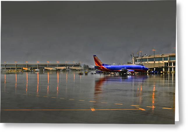 Southwest Plane In The Rain Greeting Card