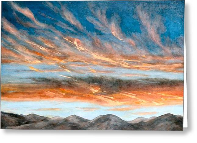 Southwest Sunset Greeting Card by Merle Blair