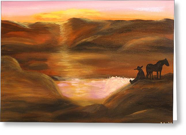Southwestern Desert Sunset Greeting Card