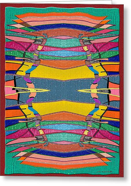 Southwestern Rug Greeting Card by Jerry White