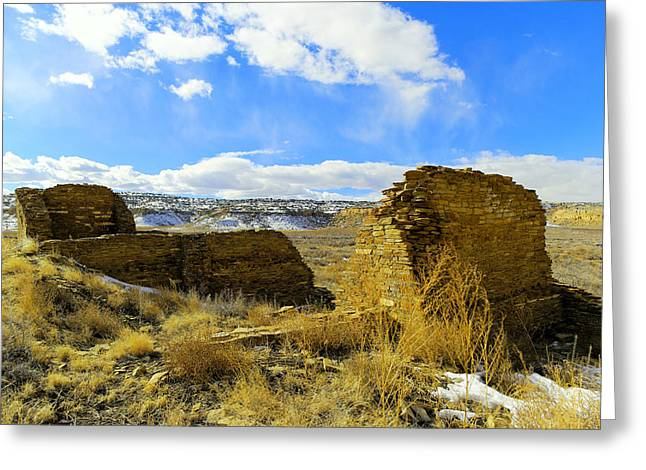 Southwestern Ruins Greeting Card by Jeff Swan