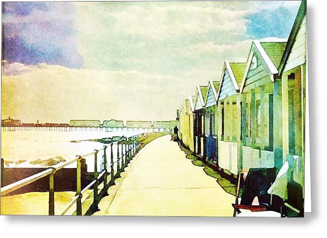 Greeting Card featuring the photograph Southwold Beach Huts by Anne Kotan