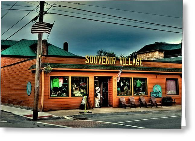 Souvenir Village In Old Forge Ny Greeting Card by David Patterson