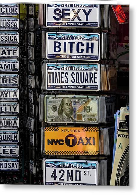 Souvenire License Plates Greeting Card by Robert Ullmann