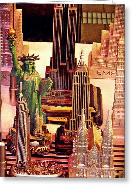 Souvenirs New York City                         Greeting Card by Sarah Loft