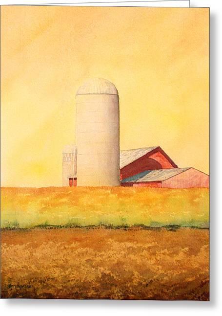 Soybean Field Greeting Card