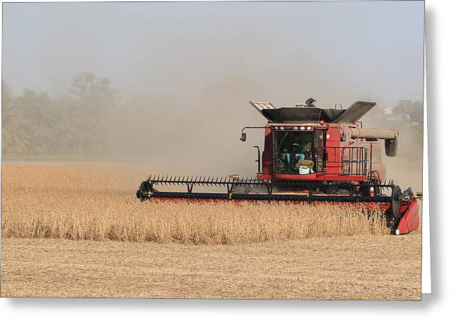 Soybean Harvest In Fremont County Iowa Greeting Card