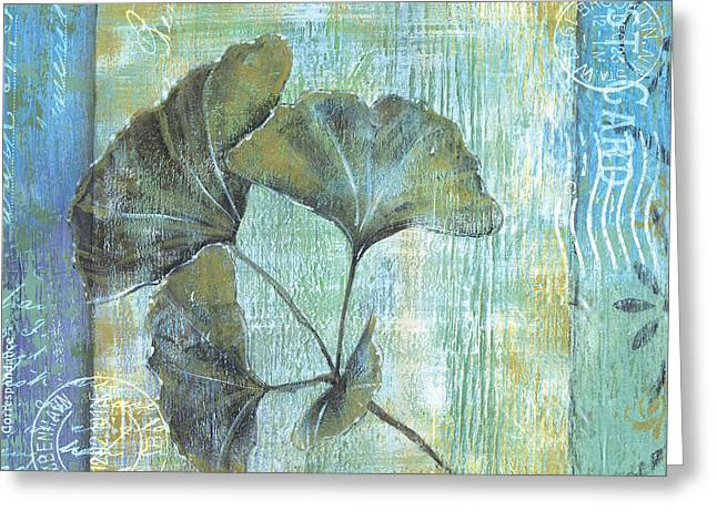 Spa Gingko Postcard 1 Greeting Card by Debbie DeWitt