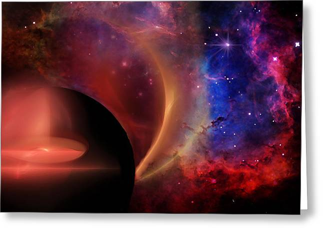 Space Abstract Greeting Card