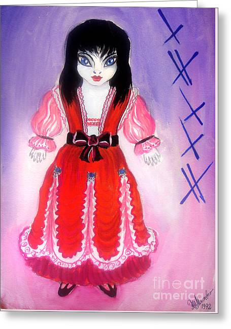 Space Alien - Little Princess Lilli Greeting Card by Sofia Metal Queen