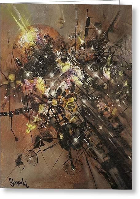 Space Debris Greeting Card by Tom Shropshire