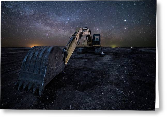 Greeting Card featuring the photograph Space Excavator  by Aaron J Groen
