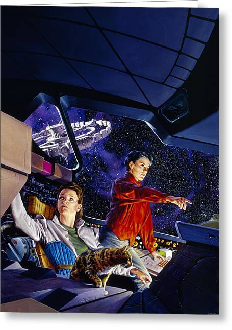 Space Explorers Greeting Card by Richard Hescox