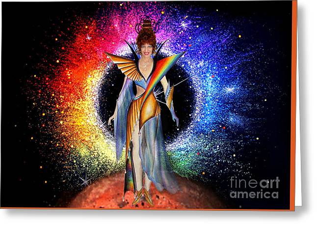 Space Fashion By Sofia Metal Queen Greeting Card