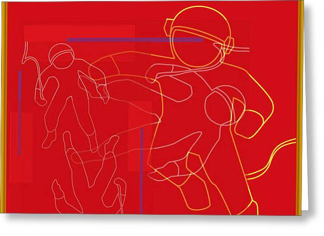 spACE HOP Greeting Card by Tony Adamo
