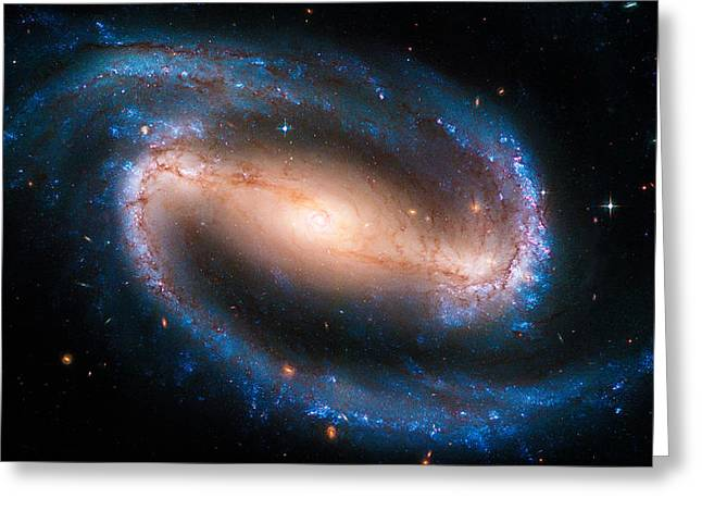 Space Image Barred Spiral Galaxy Ngc 1300 Greeting Card by Matthias Hauser