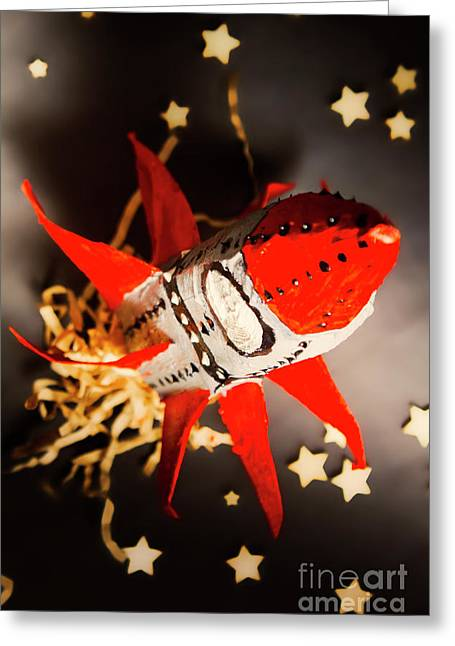 Space Launch To Seek And Discover Greeting Card