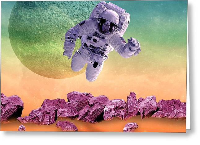 Space  Greeting Card by Mark Ashkenazi