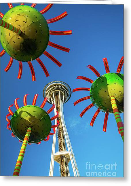 Space Needle Bloom Greeting Card