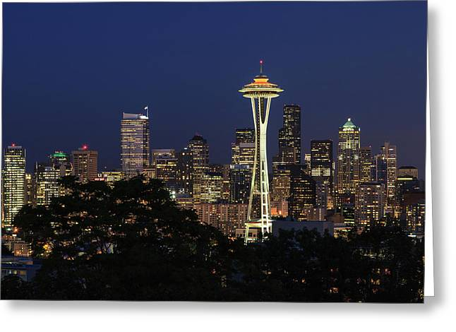 Greeting Card featuring the photograph Space Needle by David Chandler