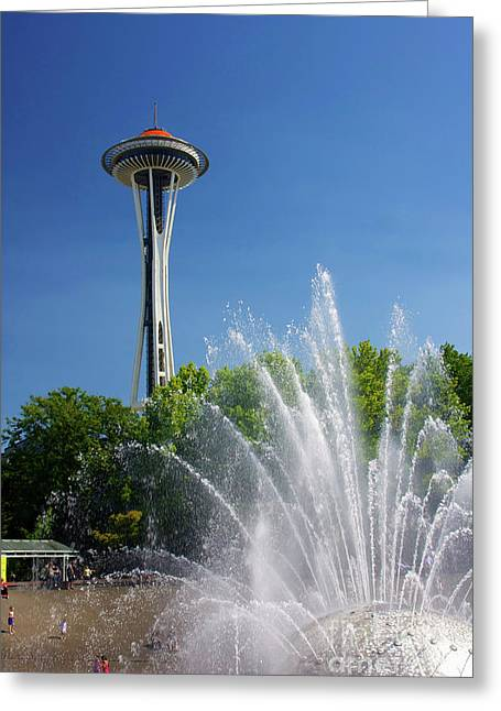 Space Needle In Seattle Greeting Card