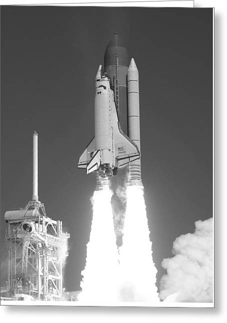 Space Shuttle Atlantis Launch Greeting Card by War Is Hell Store