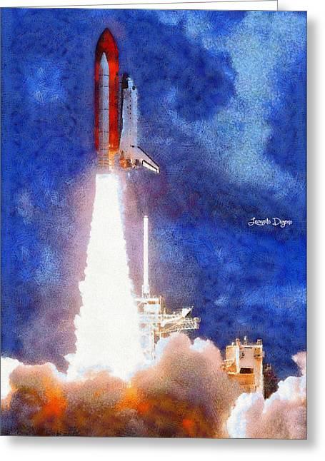 Space Shuttle - Da Greeting Card