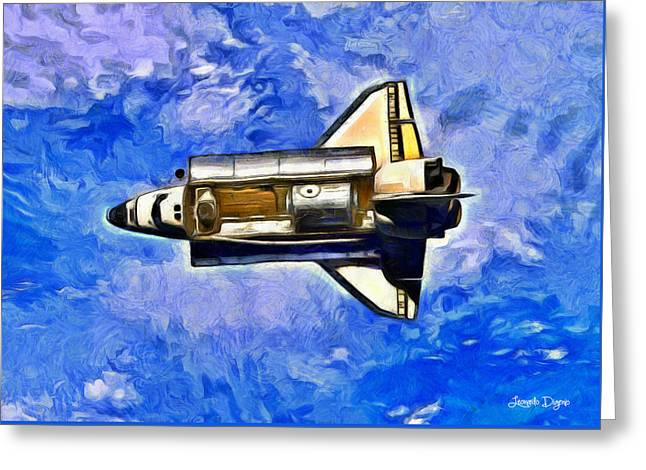 Space Shuttle In Space - Pa Greeting Card