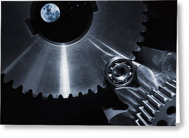 Space Technology And Titanium Parts Greeting Card by Christian Lagereek