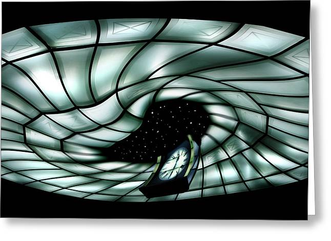 Cullen Greeting Cards - Space Time Continuum Greeting Card by Marion Cullen