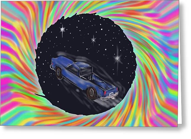 Space Truck'n Greeting Card by Kevin Caudill
