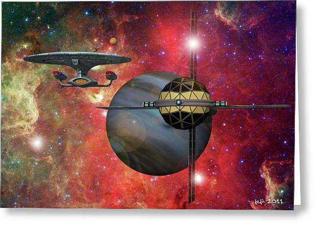 Spaceliner Opulence Greeting Card