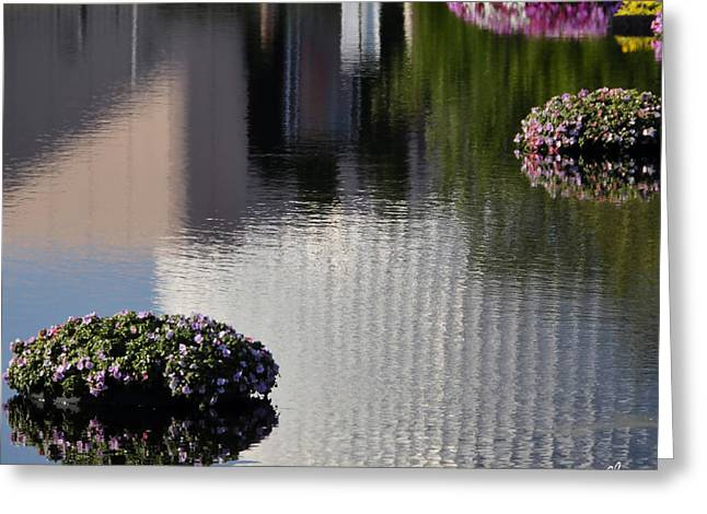 Spaceship Earth Reflection Greeting Card by Lyle  Huisken