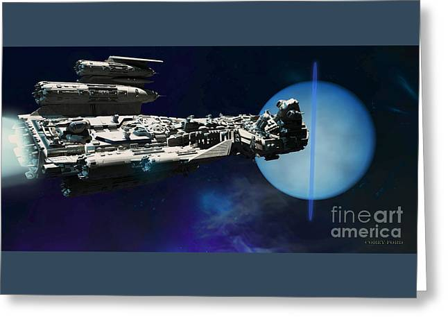Spaceship To Neptune Greeting Card