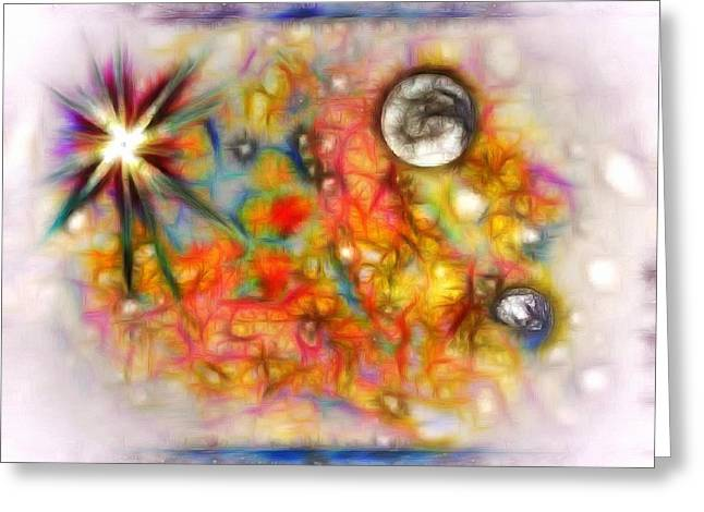 Spacial Dream Greeting Card by Mario Carini