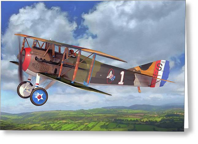 Spad Xiii Greeting Card by Dale Jackson
